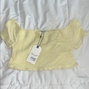 NWT yellow crop top